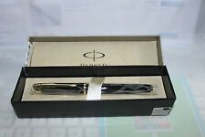 New Parker IM Black Laquered Fountain Pen, Gold Trim,F Nib,converter,box,papers,