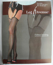 LIGHT PASTAL BLUE NET FISHNET STOCKINGS VINTAGE 80'S BURLESQUE PIN UP LEG AVENUE