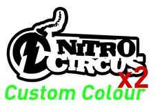 2 nitro circus outline vinyl sticker decal travis pastrana motocross graphics
