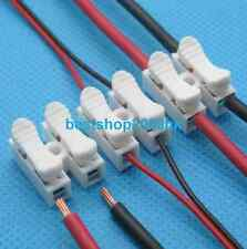 10x 2p Spring Connector wire no welding no screw for led strip tube Ceiling lamp