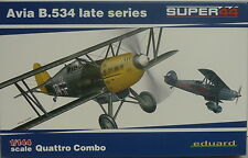 Avia B.534 late,Quattro Combo, Eduard ,1:144, Plastik, 4 Modelle, Luftwaffe,Neu