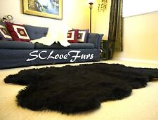 "58"" x 84"" Quad Sheepskin Large Faux Fur Rug Bearskin Shaggy Fur Carpet"