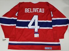 JEAN BELIVEAU SIGNED MONTREAL CANADIENS THROWBACK JERSEY PSA/DNA AUTHENTIC COA