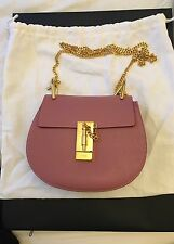 Beautiful Rare Unused Chloe Mini Drew Bag In Faded Rose - 100% Genuine