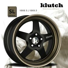 18X9.5 +45 Klutch SL5 5x112 Black BRONZE Lip Wheel Fits Vw EOS CC GTI rabbit