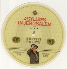 "SCRITTI POLITTI ASYLUMS IN JERUSALEM LIMITED EDITION 7"" PICTURE DISC 1982 EX"