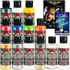 11 Createx Wicked Colors 2oz Pearl Airbrush Paint Set - Hobby Art Craft