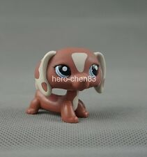 Rare Littlest Pet Shop LPS Brown Dachshund Dog Puppy #1631 Tan Patches Girl Toys