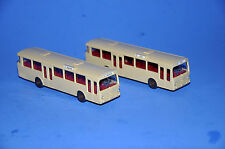 2 VINTAGE HO-SCALE 1:87 WIKING/VIKING 700 MERCEDES BENZ TRANSIT BUSES W DRIVERS