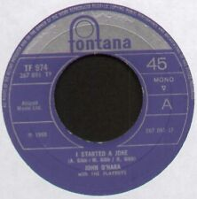 [BEE GEES] JOHN O'HARA & THE PLAYBOYS ~ I STARTED A JOKE / SHOW ME ~ 1968 UK 7""