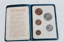 Britian FIRST Decimal Coin Set Presentation Collection Uncirculated 1971-1968