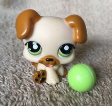 LITTLEST PET SHOP BABY BOXER PUPPY DOG CREAM & BROWN #2103 ~ PETS ON the GO VHTF