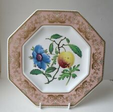 Spode Octagonal Plate CABINET COLLECTION  Anemone & Apple -No.4