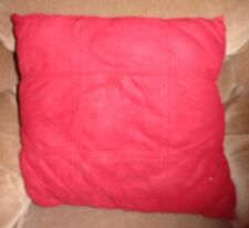 Red Pillow Square on Square Design Throw Toss Cushion Décor Decorative Velour