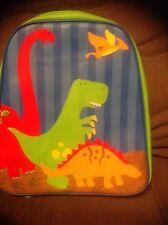 Stephen Joseph Backpack Dinosaur Vinyl  GoGo Bag blue red green  Dino boy school