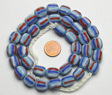Strang striped lampwork beads