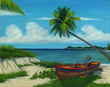 """CUBAN ART #061 **DOUGLAS** EL MORRO 40X32"""" SIGNED ON CANVAS"""