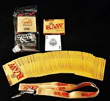 1 Deck Raw Rolling Papers Playing Cards,1 Lanyard Key-Chain & 1 Bandanna
