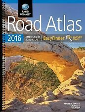 2016 Road Atlas Midsize Easy to Read - Spiral : Dram by Rand McNally (2015,...