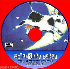 200+ SUPERB KIDS SONGS & NURSURY RHYMES ON MP3 AUDIO CD, CHILDRENS EDUCATIONAL
