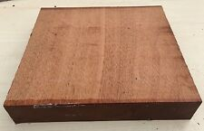 230X230X42MM LOT 387 MAHOGANY WOODTURNING FIGURED TIMBER BLANK