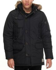 Rocawear Classic Men's Hooded Parka Jacket, Black (Size XL)
