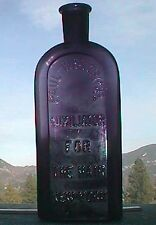 Great old quack HAIR TONIC antique bottle, DEEP purple AUXILIATOR for the HAIR