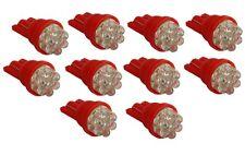 10x ampoule T10 W5W 12V 7LED rouge veilleuses éclairage intérieur plafonnier