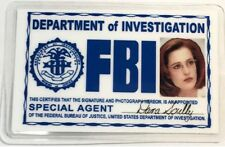 Special Agent Dana Skully / FBI ID Card Novelty / X-Files  v2
