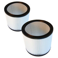 2-Pack HQRP Cartridge Filter for Shop-Vac 850-01-10 8500110 850-02-10 8500210