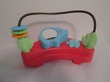Replacement Fisher Price Luv U Zoo Jumperoo Elephant Mirror Bead Maze Toy VGUC