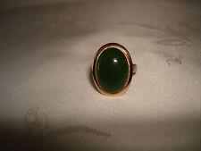 Vintage Jade Solid 14k Rose Gold Unisex Men's Pinky Signet  Ring Size 10