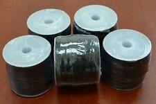 5 ROLLS - 500 METERS BLACK WAXED COTTON BEADING CORD STRING ROLL 0.5MM #F-49