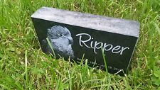"Personalized Pet Stone Memorial Grave Marker 4"" x 7"" x 2"" Mastiff Collie Terrier"