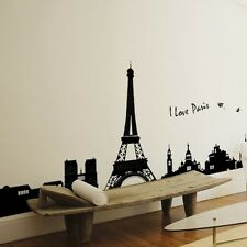 Paris Eiffel Tower Removable Vinyl Art Decal Mural Room Wall Sticker Decor New