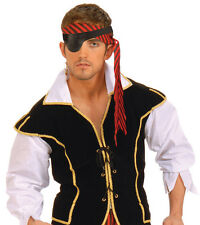 Pirate Eye Patch Halloween Buccaneer Pirates Fancy Dress Costume Accessory New