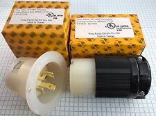 NEMA L17-30 CONNECTOR & FLANGED INLET, 3 Pole, 4 Wire, 30A 600V, UL listed.