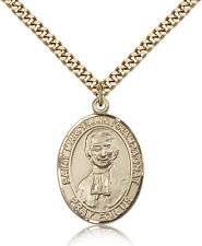 "Saint Marcellin Champagnat Medal For Men - Gold Filled Necklace On 24"" Chain ..."