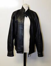 Vintage Territory Clothing Co Black Mens Leather Jacket Size S Chest 42""