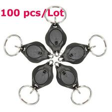 100x Bright Flashlight Keychain Mini LED Torch Keyring Hiking Camping Light Lamp