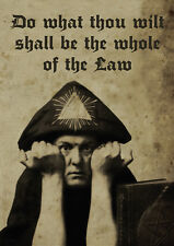 Aleister Crowley - Portrait ++ POSTER, DIN-A2 ++ Baphomet, Thelema ++ NEU !!