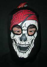NEW Adult Pirate Skull black Balaclava hat halloween fancy dress