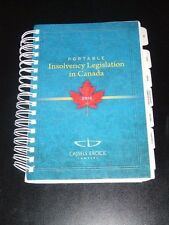 Portable INSOLVENCY LEGISLATION IN CANADA Cassels Brock Lawyers 2012 NEW