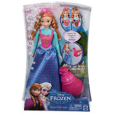 DISNEY FROZEN ROYAL COLOR ANNA DOLL MAGICAL COLOR CHANGE MATTEL BDK32 NEW!