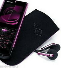 Genuine Nokia 7900 Prism Black Lined Suede Pocket Pouch / Case