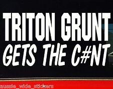 TRITON GRUNT 4x4 canopy bullbar Funny Stickers 200mm
