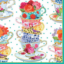 High Tea Cup Cakes 20 Paper Napkins Serviettes Cups And saucers