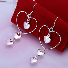Wholesale discount solid925 sterling silver jewelry Earrings Ladies Love Gifts