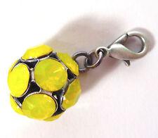SoHo® Anhänger pendant Kugel Ball ss29 yellow opal gelb mit Karabiner für Ketten