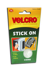 16 Velcro Circular Sticky Pads/Coins Stick On Fasteners Hook and Eye 16mm